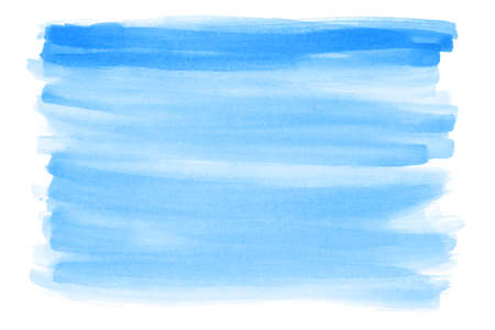 blue hand-painted watercolor background with rough edges Redactioneel