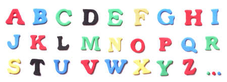 colorful foam rubber letters alphabet complete set