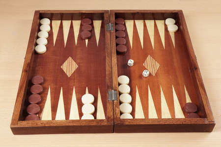 backgammon: backgammon wooden tavli board game from greece