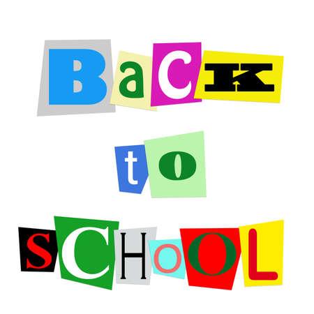 ritagliare: torna a scuola farro con coloratissimi sovrapposizione tagliato lettere
