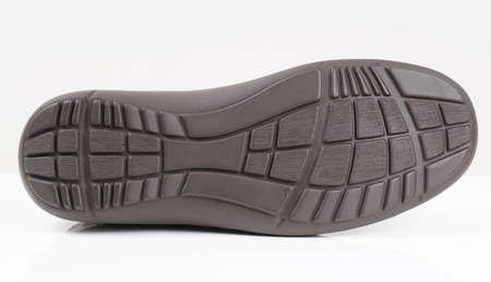 rubber sole: rubber sole of a mens shoe on white background