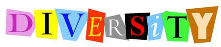 diversidad: diversidad escribe con colorido superposición recortar letras Foto de archivo