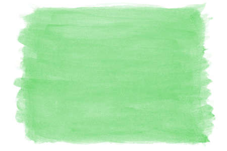 edges: green hand-painted watercolor background with rough edges