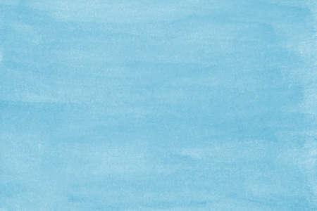 淡いブルーの手を描いた水彩背景テクスチャ 写真素材