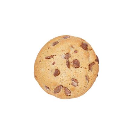 galletas: galleta de chocolate directamente desde arriba, aislado Foto de archivo