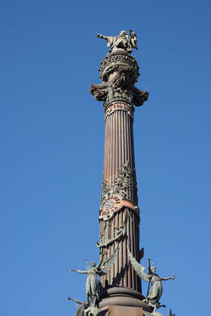colom: Monument a Colom - top part of Columbus monument in Barcelona