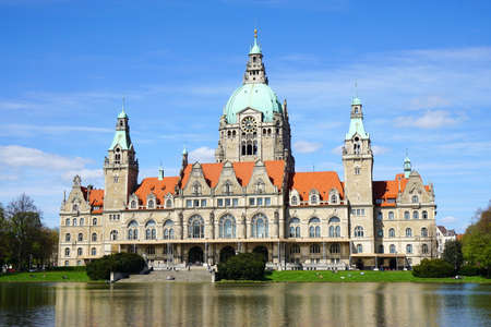 eclecticism: New City Hall building in Hannover, Germany
