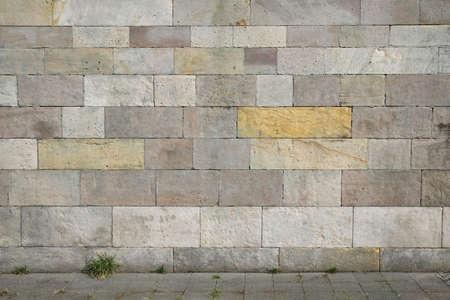 verwitterte Natursteinmauer Hintergrund mit Kopie Raum