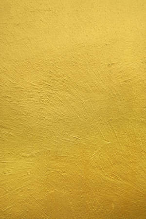 Rough Wall Painted With Gold Color. Textured Background. Stock Photo ...