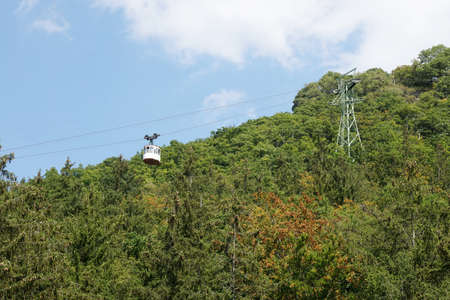 foothill: cable car or funicular at Harz mountains in Germany