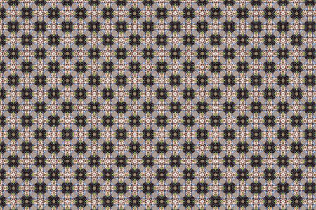 intricate: intricate pattern with floral design elements on checkered background Stock Photo