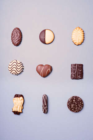 bickie: selection of cookies or biscuits in a variety of shapes Stock Photo