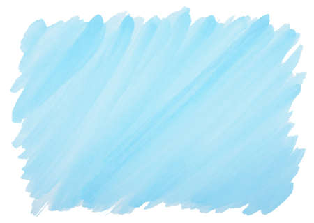 frayed: blue watercolor background with visible brushstrokes and frayed edges