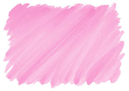hot pink: pink watercolor background with visible brushstrokes and frayed edges Stock Photo