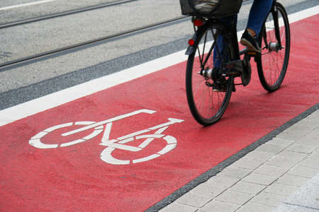 cycleway: street with designated bike lane or cycle highway