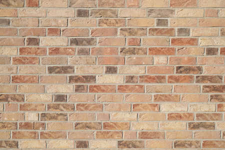 brown clinker brick wall background - modern building facade
