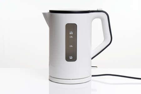 electric kettle or water boiler kitchen appliance Stockfoto