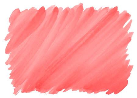 roter Aquarellhintergrund mit sichtbarer Pinselstrichstruktur und rauen Kanten Standard-Bild