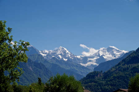 eiger: Alps, Eiger, Moench and Jungfrau Stock Photo