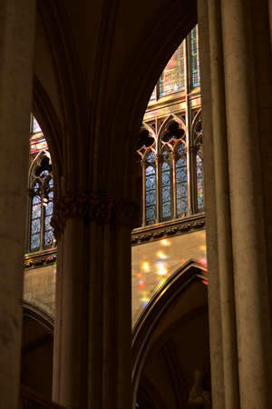 buttresses: cologne cathedral with rays of light