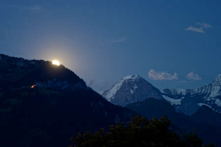 eiger: Moonrise at Eiger