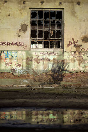 industrie: industrie ruin with puddle and reflections
