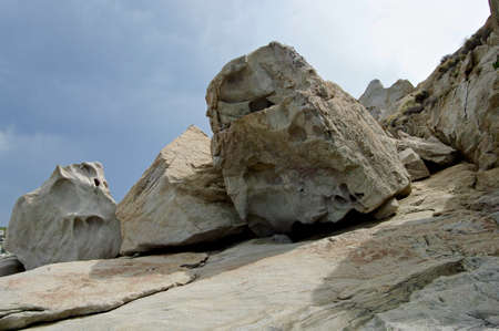crevice: eroded rocks in Corsica Stock Photo