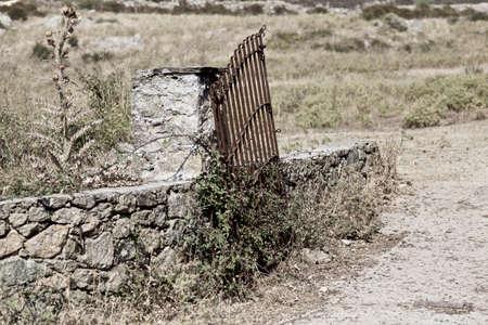 pastureland: Old Gate at pastureland Stock Photo