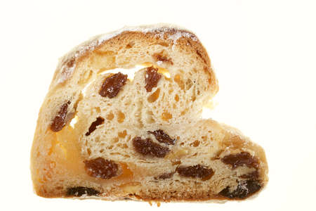 snacking: A slice of X-mas stollen