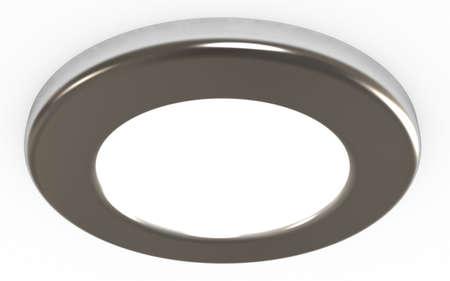 Ceiling light,  3d illustration, isolated on white