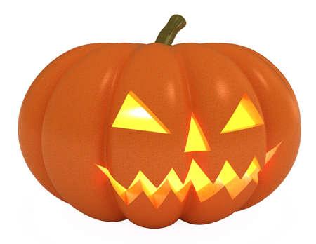 Halloween Pumpkin, Jack O Lantern, 3d illustration, isolated