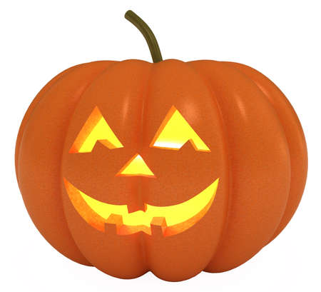 Happy Halloween Pumpkin, Jack O Lantern,  3d illustration