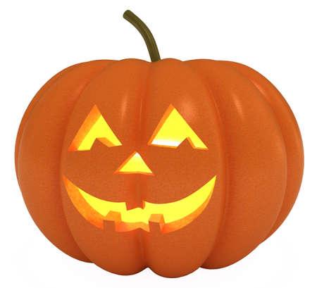 Happy Halloween Pumpkin, Jack O Lantern,  3d illustration