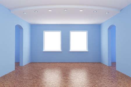 New room, empty interior,  3d illustration