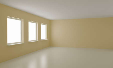 Empty room, clean office or residential interior  photo