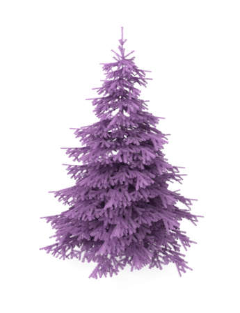 Christmas tree, purple, artificial  photo
