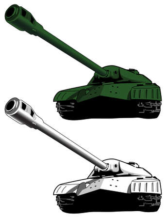 military invasion: Tank, military armor Illustration
