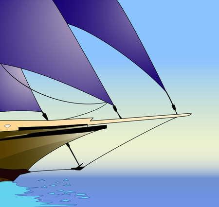 Sailboat, sailing yacht Vector