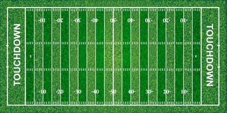 football field: American football field, texture, vector illustration. File contains transparencies
