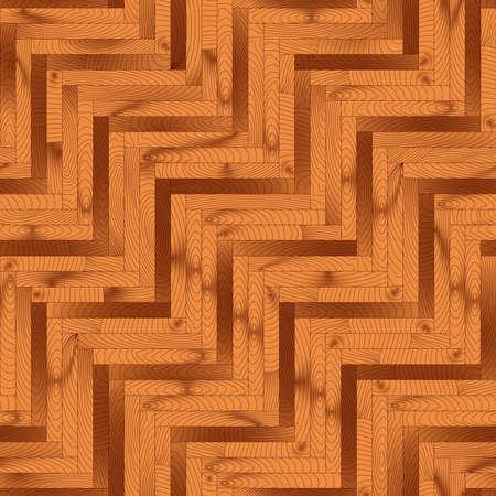parquet texture: Chevron natural parquet seamless floor texture. Realistic vector illustration Illustration
