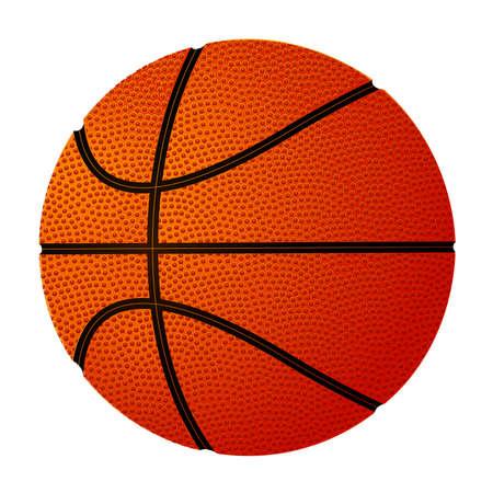 白い背景の上のバスケット ボール ボール。白図に分離されたベクトル