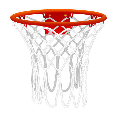 Basketball hoop iisolated on a white background. Color vector illustration
