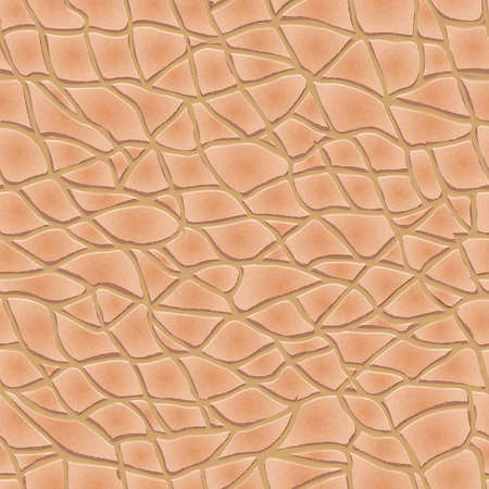 Beige leather seamless texture. Realistic vector illustration Vectores