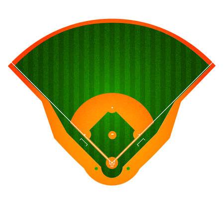 野球場。スタジアム。スポーツの背景。現実的なベクトル図
