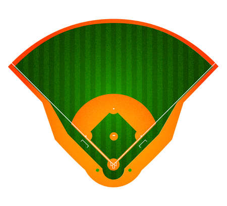 bullpen: Baseball Field. Stadium. Sport background. Realistic vector illustration Illustration