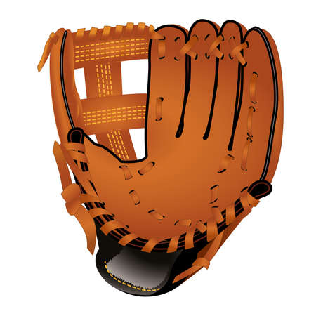 Baseball glove isolated on a white background. Color vector illustration