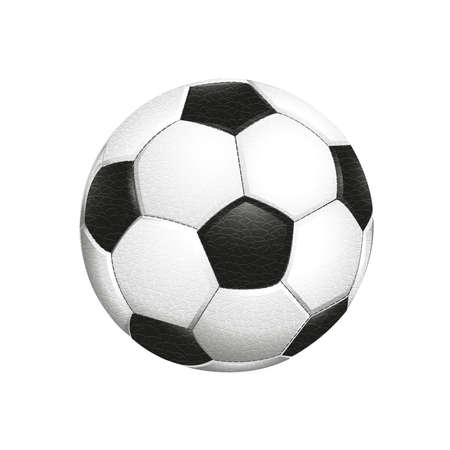 Soccer ball isolated on white background. Color vector illustration. EPS10