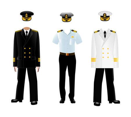 Navy captain uniform. Illustration