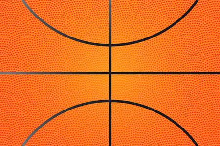 Basketball ball vector background. Highly detailed texture.