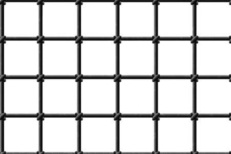 Metal grid seamless texture on a white background. Vector isolated illustration EPS10 Vectores